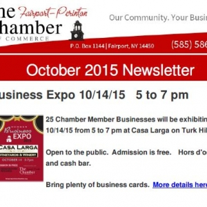 News page 5 fairport perinton chamber of commerce 25 chamber member businesses will be exhibiting on 101415 from 5 to 7 pm at casa larga on turk hill rd open to the public admission is free reheart Choice Image